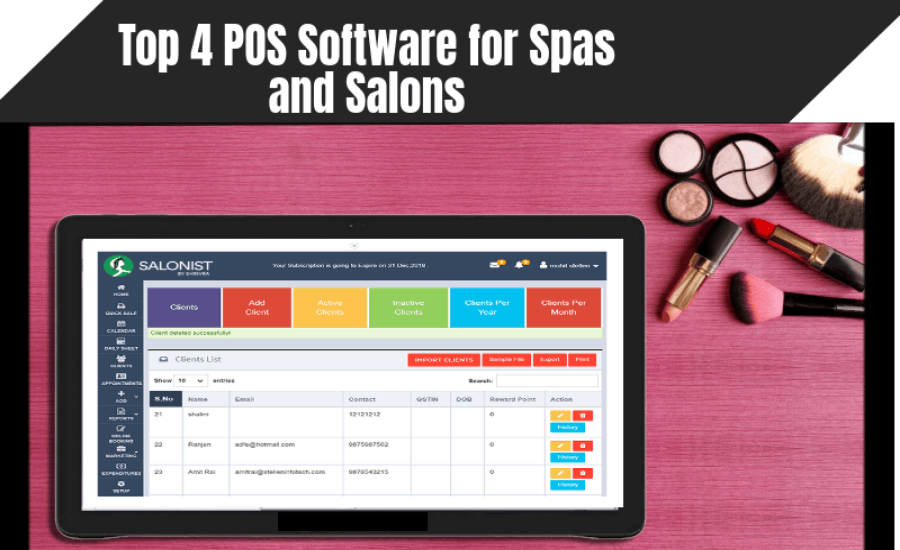 Top 4 POS Software for Spas and Salons