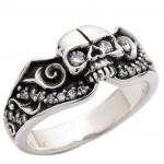 DIAMOND SKULL GOTHIC ENGAGEMENT RING