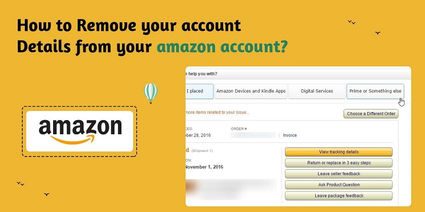 How to Remove your Account Details from your Amazon account