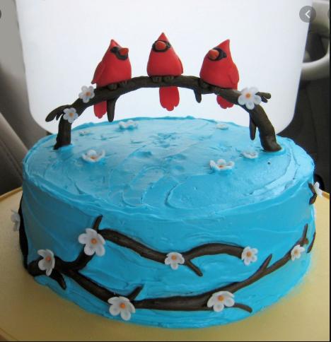 Birds on Tree Limb Cake Topper