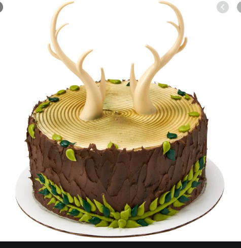 Cake Topper with Deer Antlers