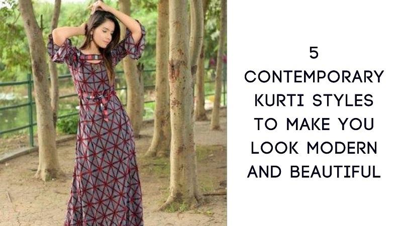 Contemporary Kurti styles