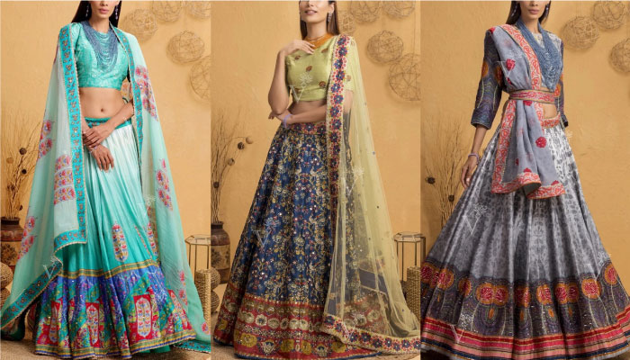 7 Superb Silk Printed Lehengas to Buy from Best Online Shopping Site for Lehengas